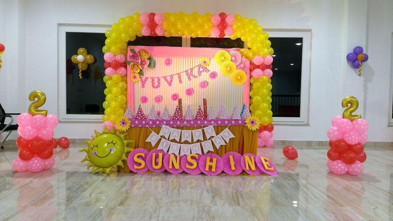 sunshine kids birthday party Bangalore