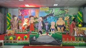 Chota bheem theme balloon decoration