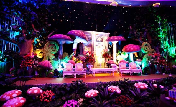 wonderland theme birthday party decoration bangalore