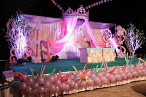 Crown theme birthday decoration bangalore