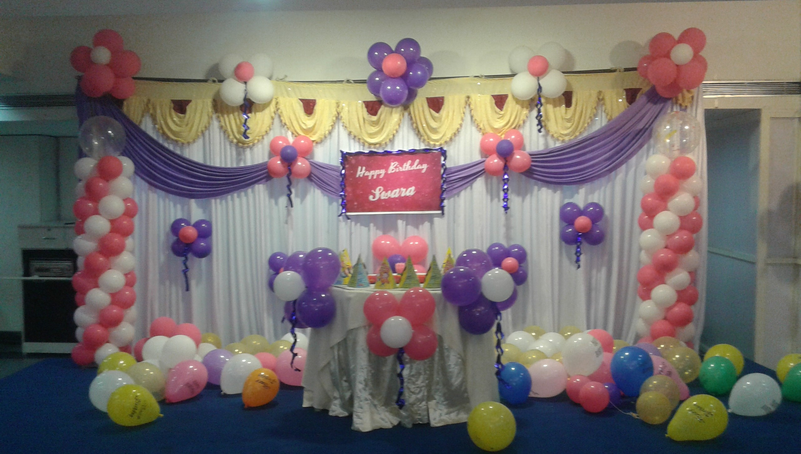 birthday party screen decoration