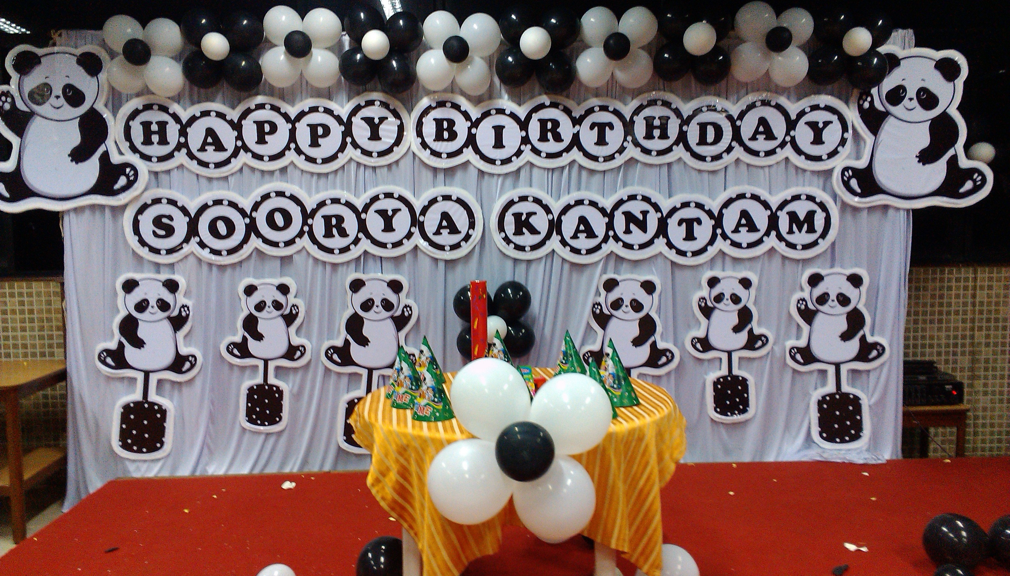 kung fu panda theme birthday decoration