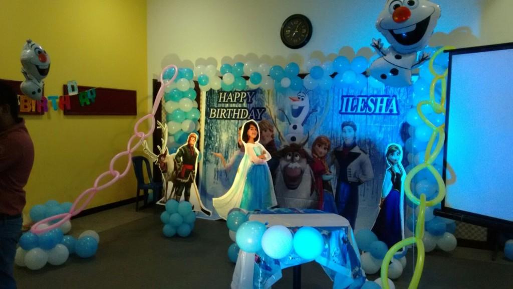 birthday party decorators bangalore frozen theme