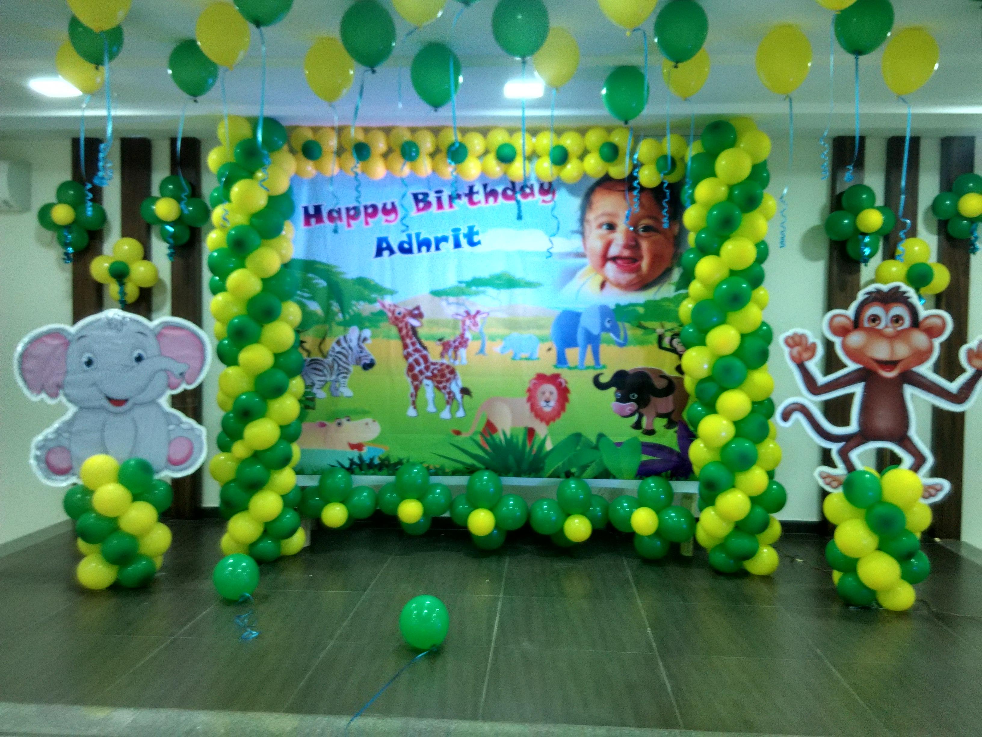 Safari Birthday Decoration Ideas