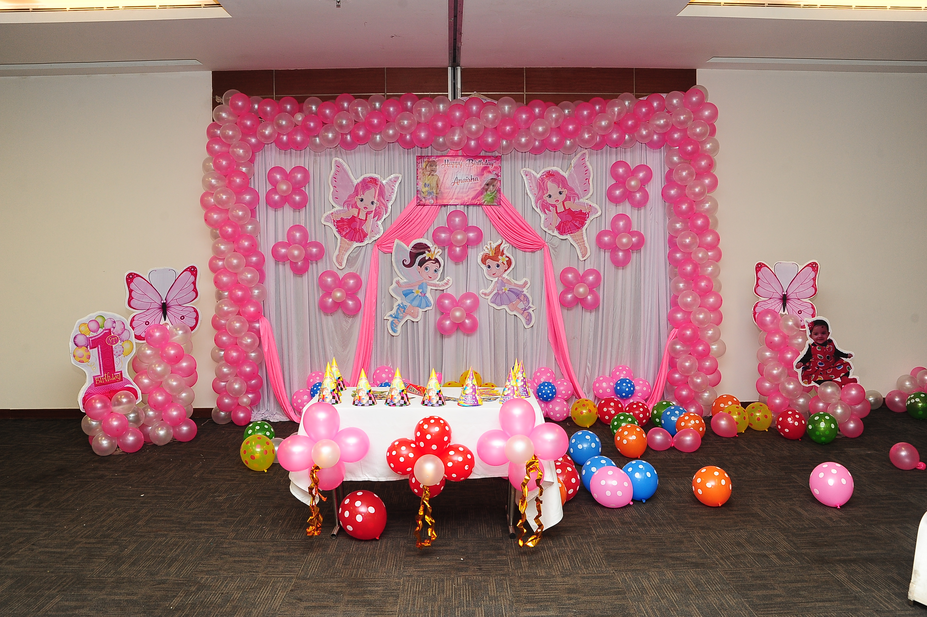 Baby Angel Theme Birthday Party Decorators Bangalore