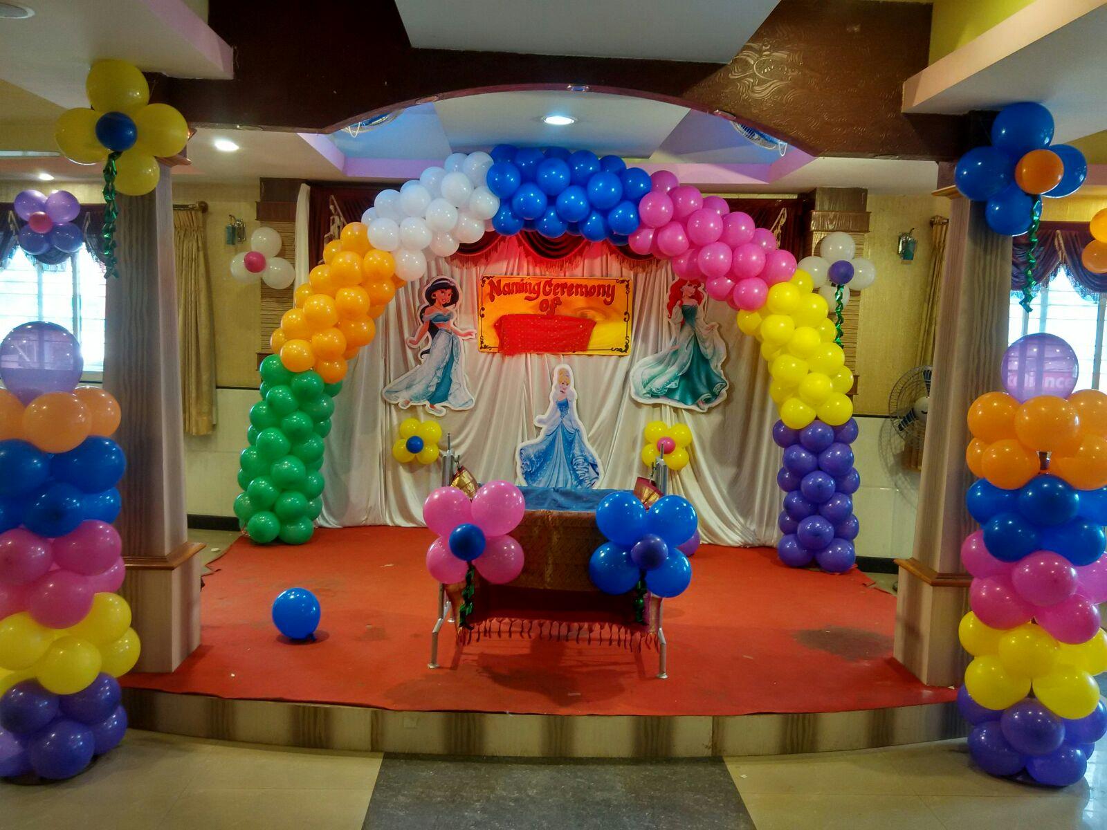 Princess Balloon Decoration Princess Theme Balloon Decoration With Arch Hiibangalorecom
