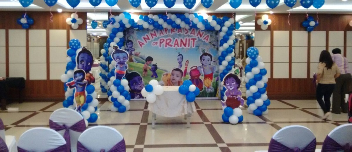 Kids birthday party organisers in bangalore for Balloon decoration for naming ceremony