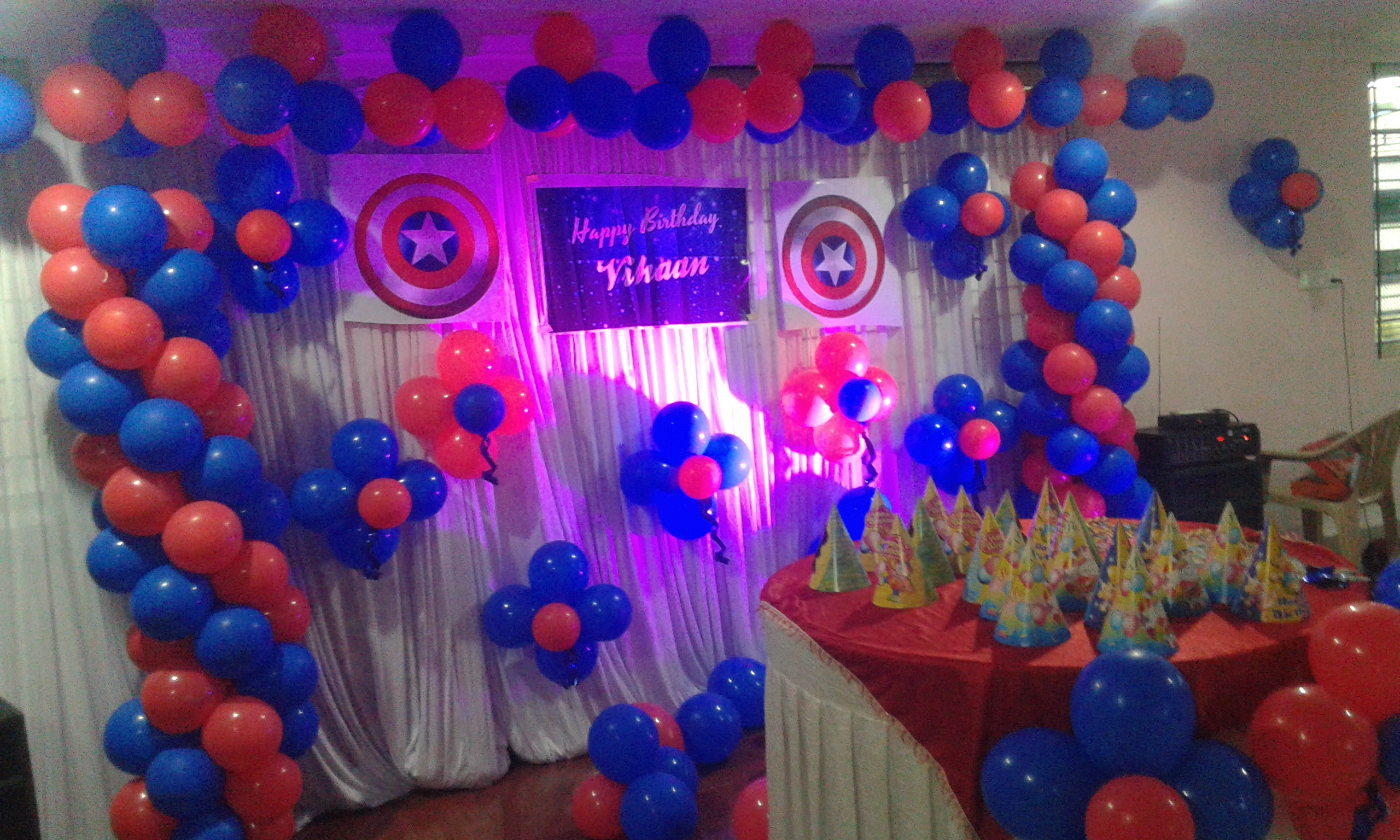 birthday party captain america theme