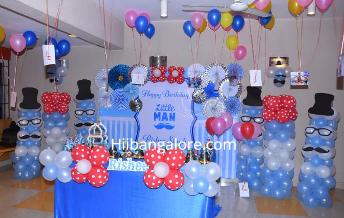 Little man theme birthday decorations