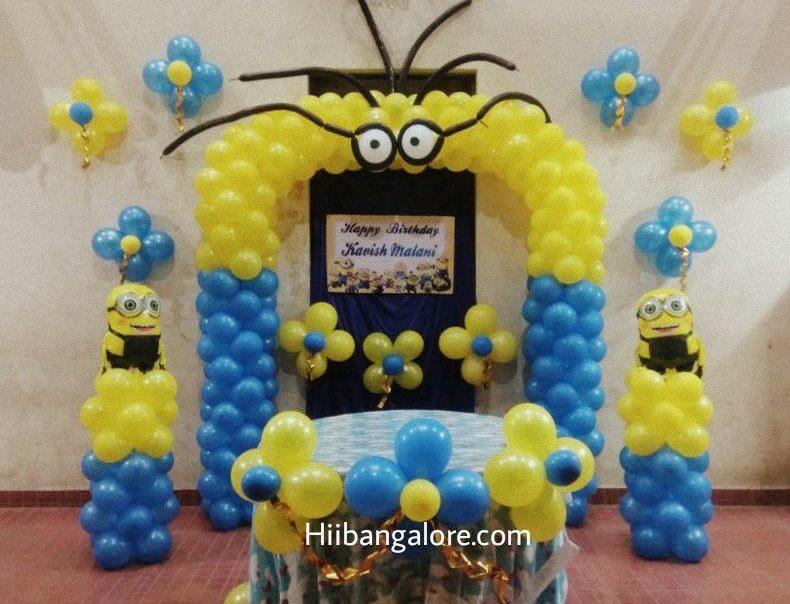 minions theme decoration bangalore