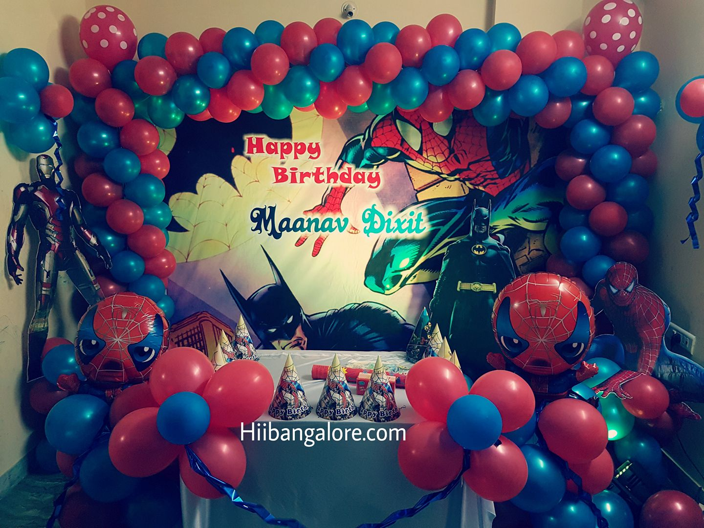 super heros theme birthday party bangalore