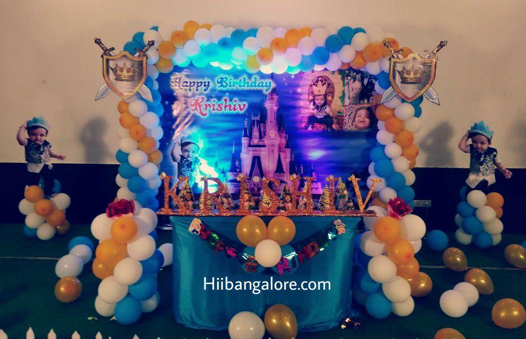 prince theme balloon decoration bangalore
