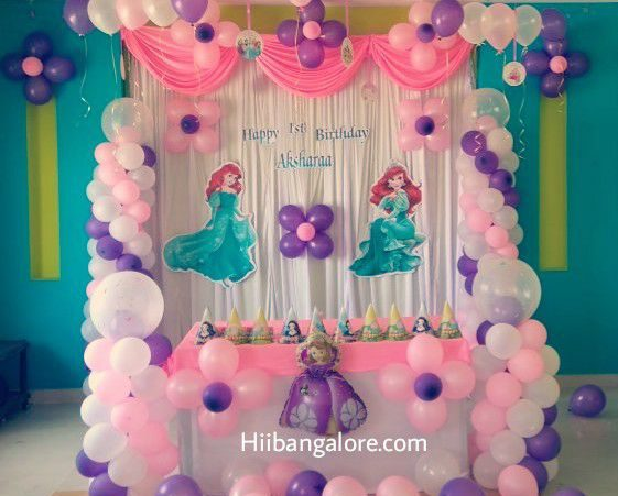princess theme birthday party decoration bangalore