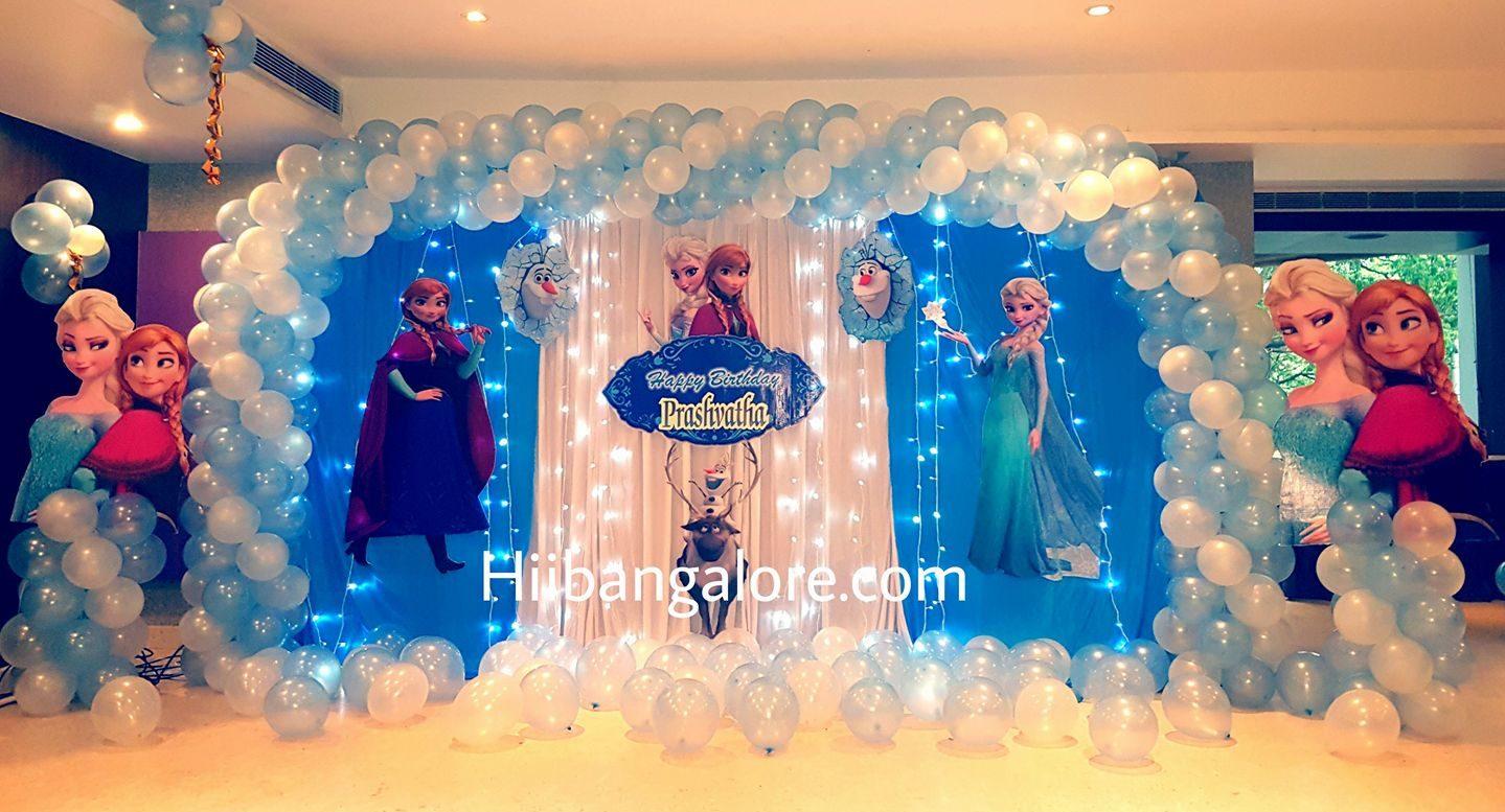 frozen alsa theme birthday party balloon decorations