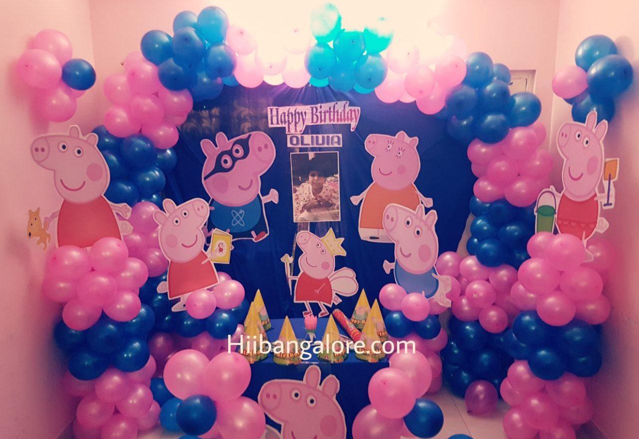 pepa pig birthday balloon decoration bangalore