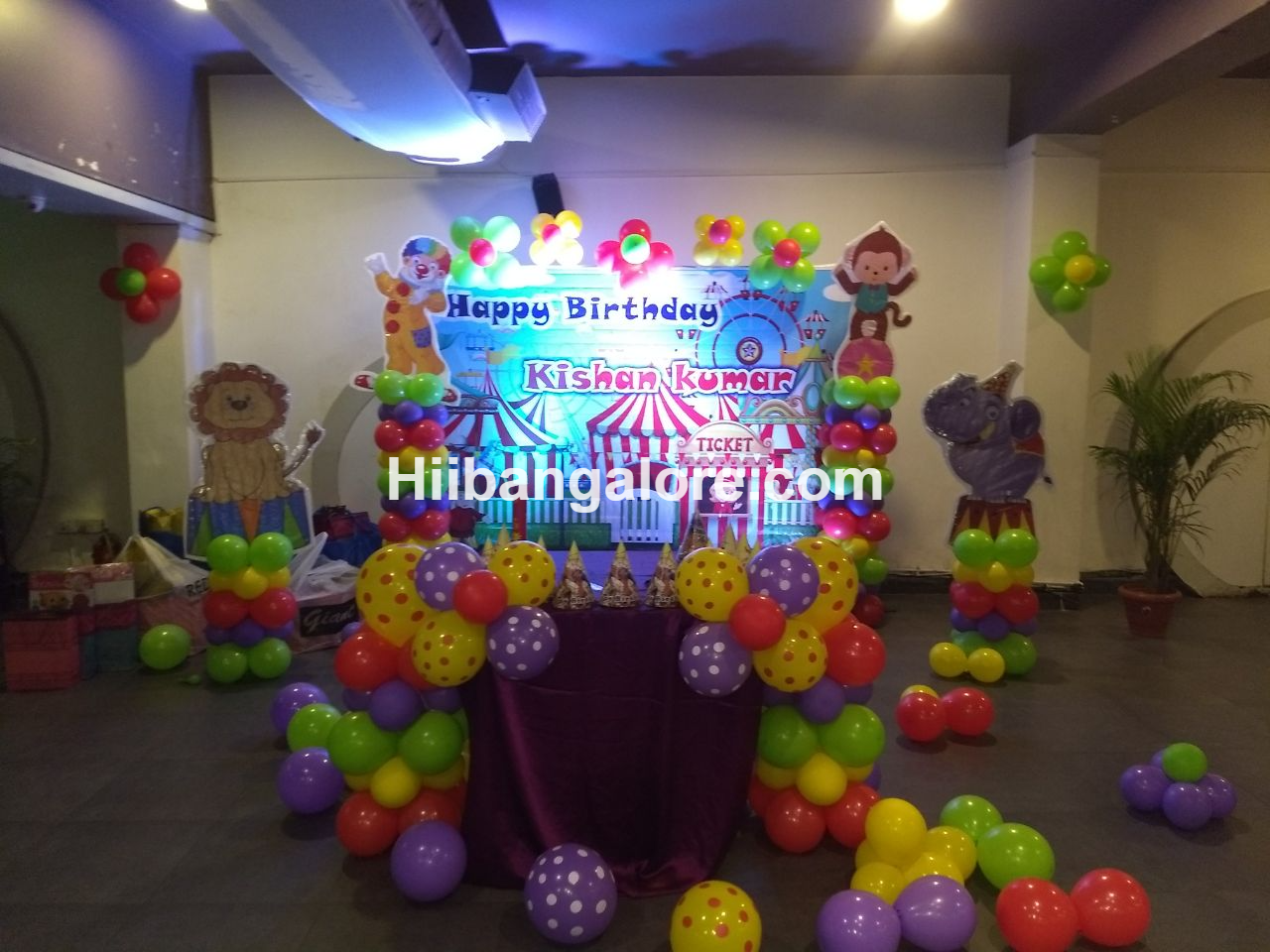 carnival theme birthday decorations bangalore