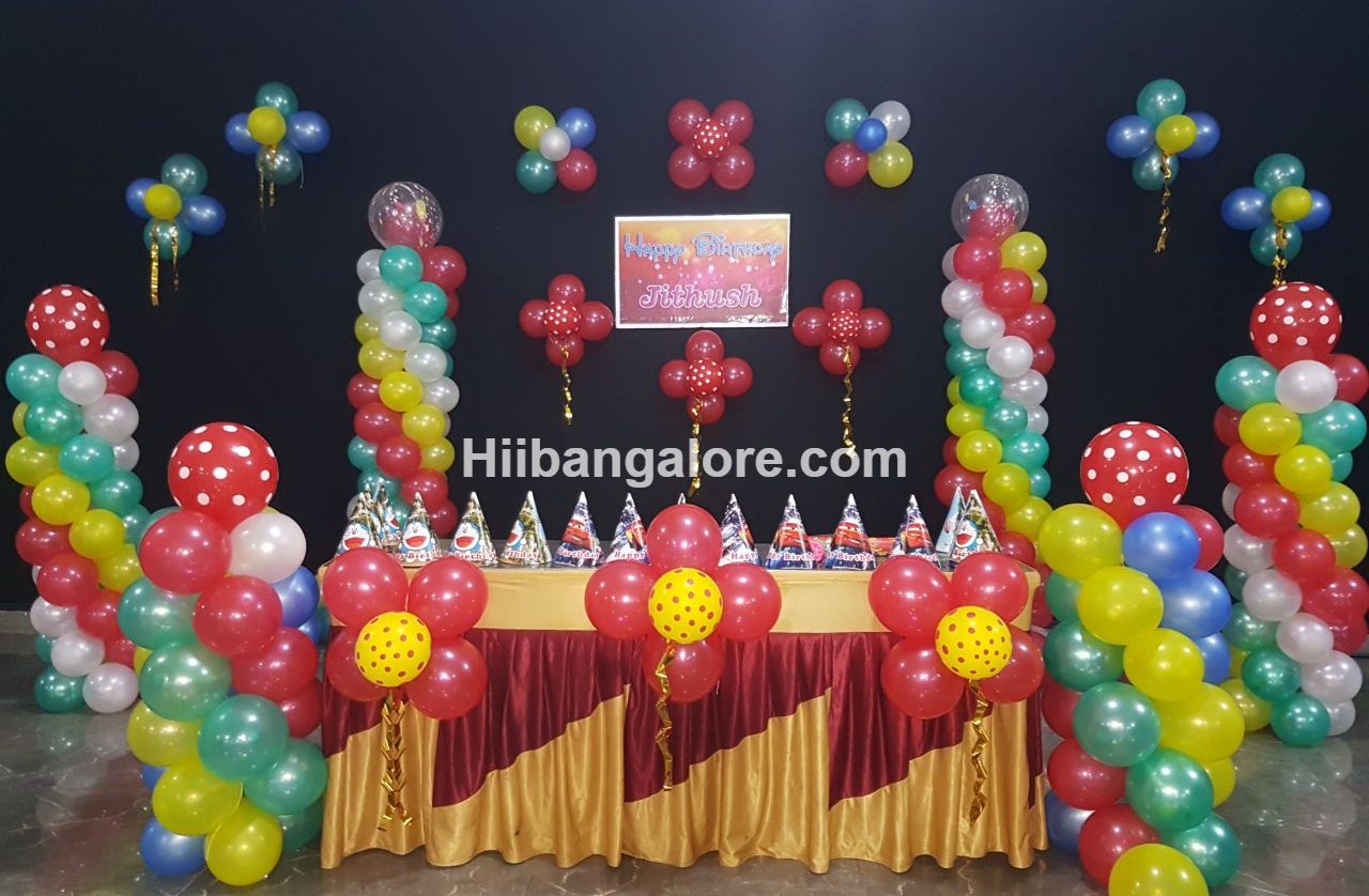 Birthday party balloon decorators in Bangalore