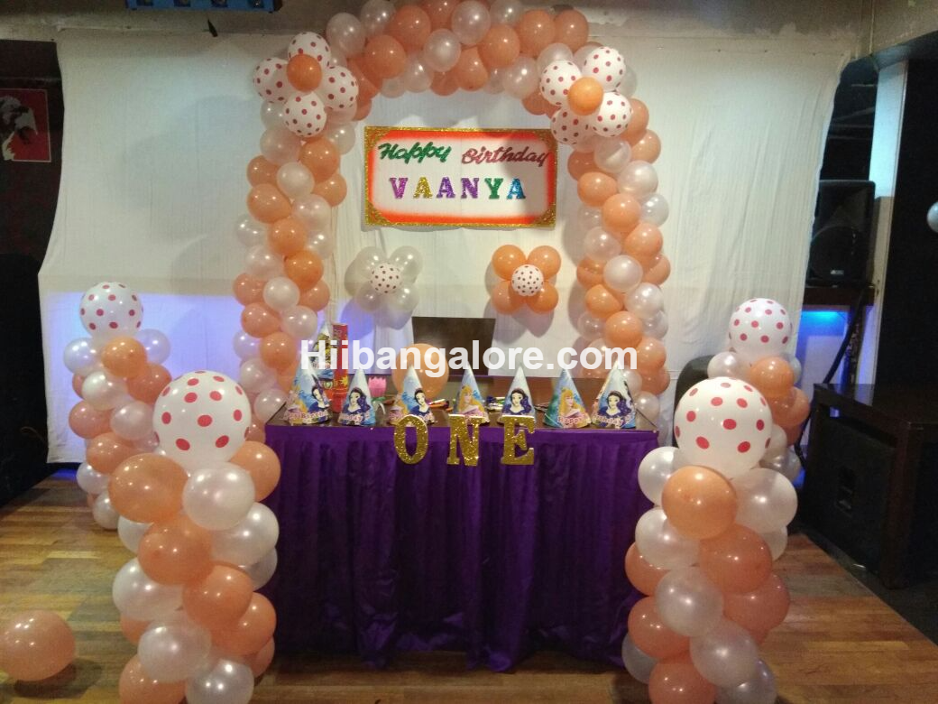 birthday party simple balloon decoration