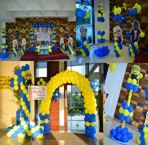 minions balloon decoration
