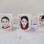 Birthday party mug caricature artist