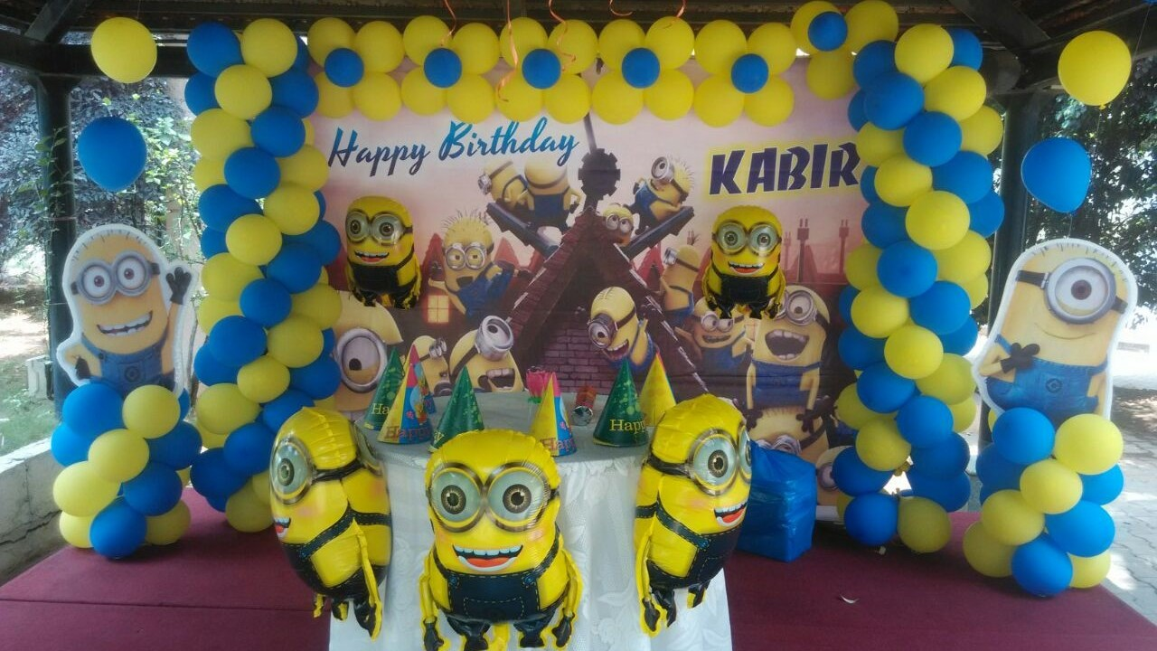 minions theme birthday party organisers bangalore