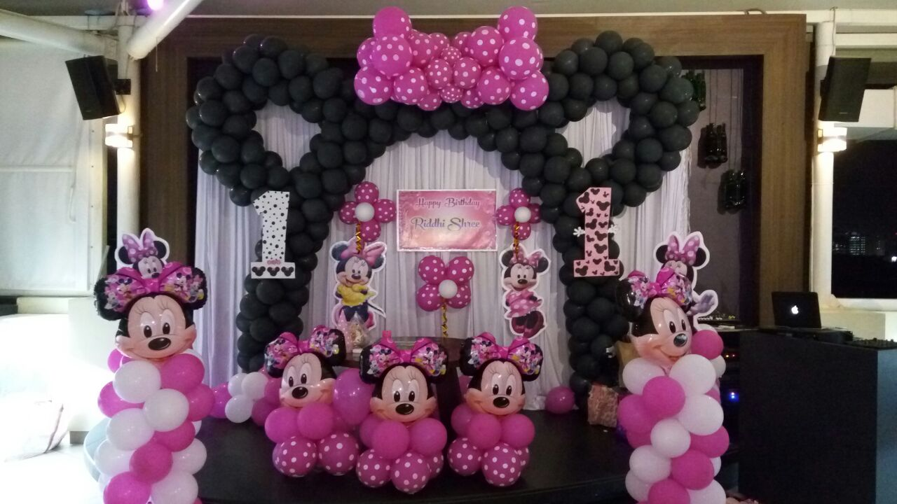 Minnie mouse theme birthday party