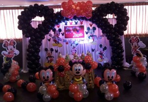 minnie mouse theme birthday decoration