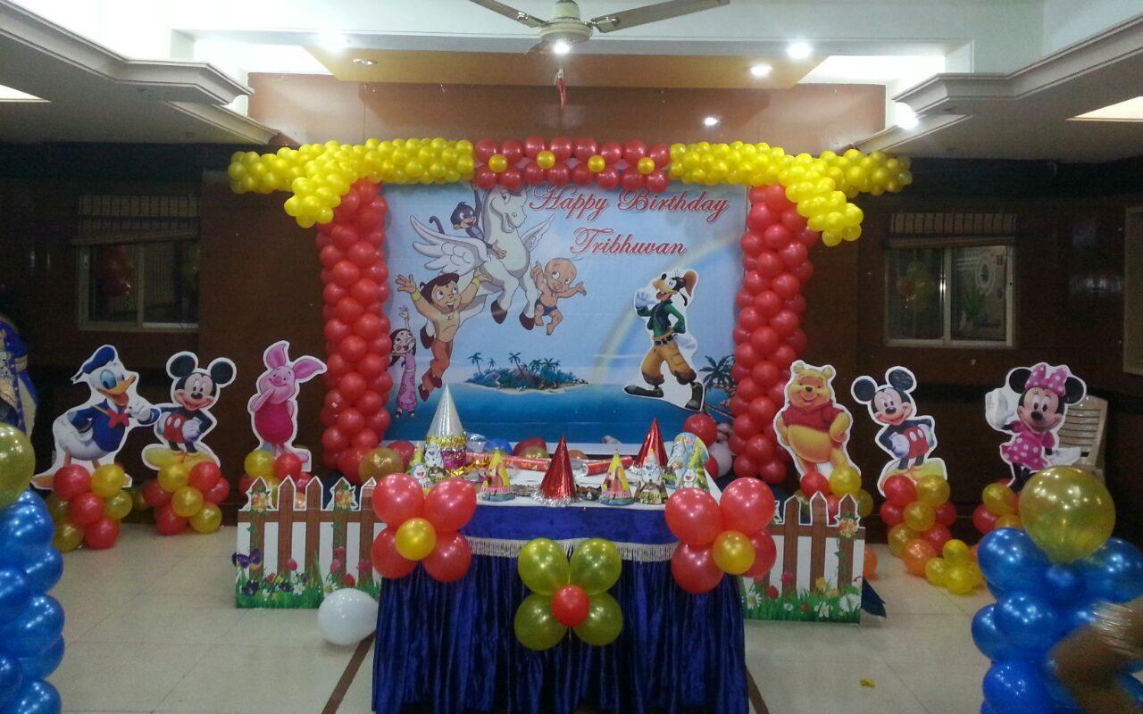 mickey and chota bheem theme decoration