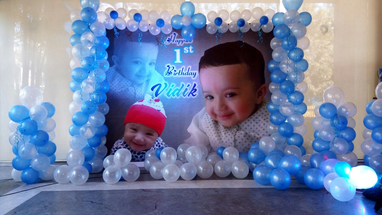 Kids birthday banner decoration