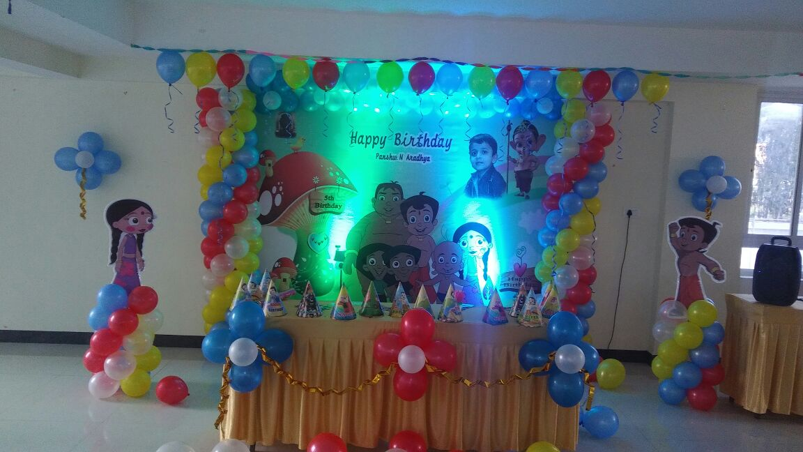 chota bheem theme birthday party decoration bangalore