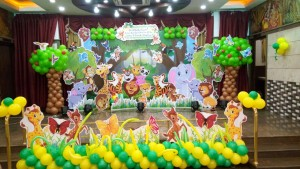 Birthday party jungle theme 3D decoration