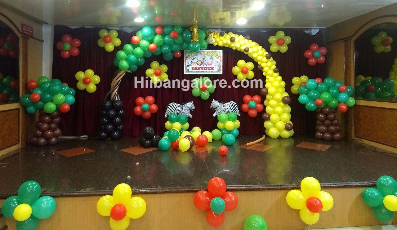 jungle theme birthday decoration bangalore