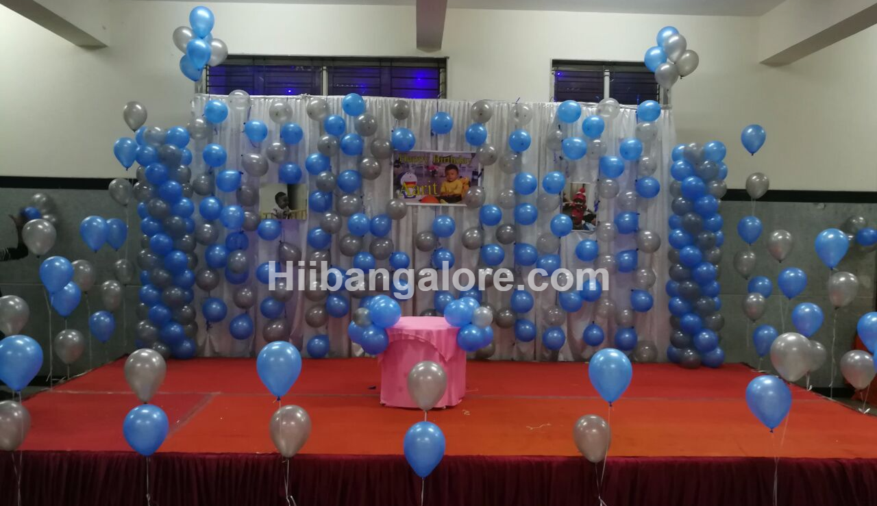 birthday party bubble theme decoration