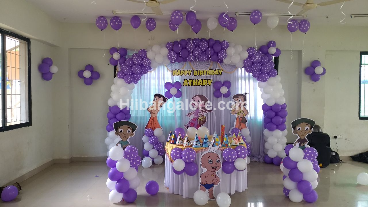chota bheem theme birthday decoration