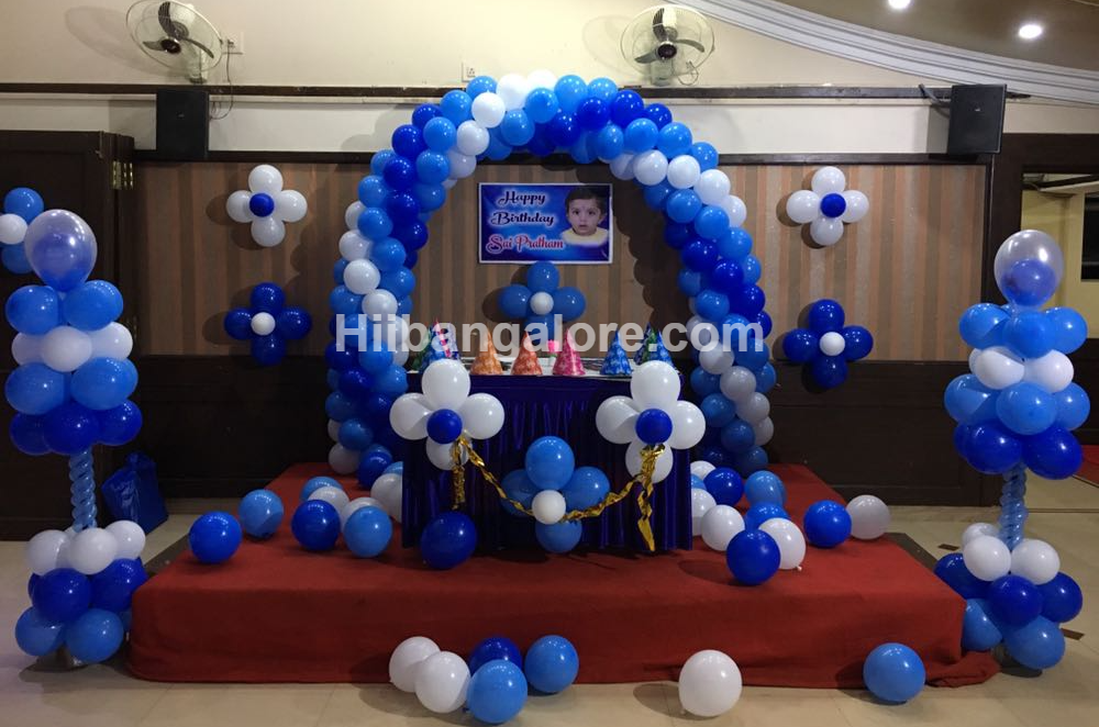 basic balloon decorations bangalore