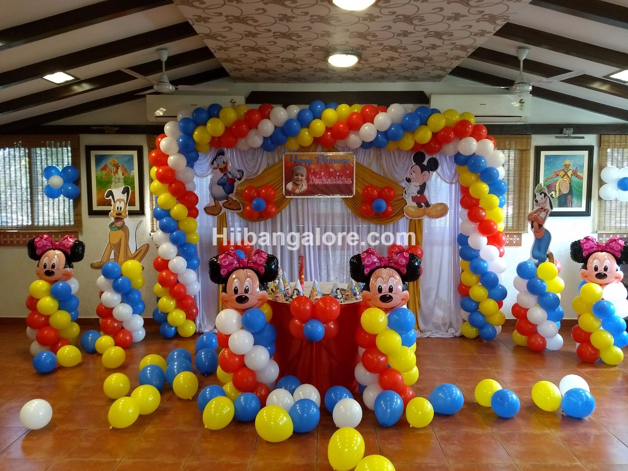 Minney mouse theme birthday party bangalore