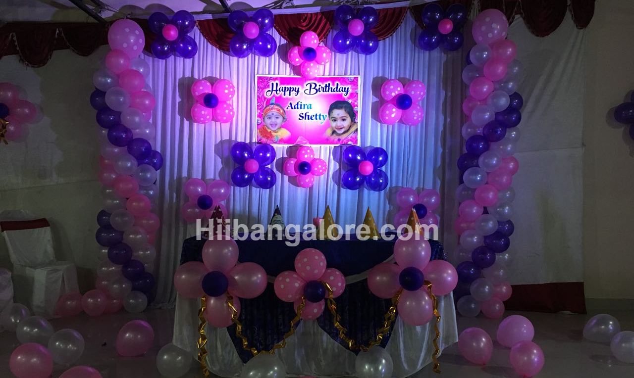 girl baby birthday decoration bangalore