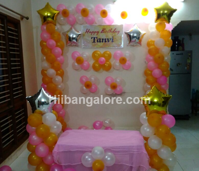 stars simple birthday decoration bangalore