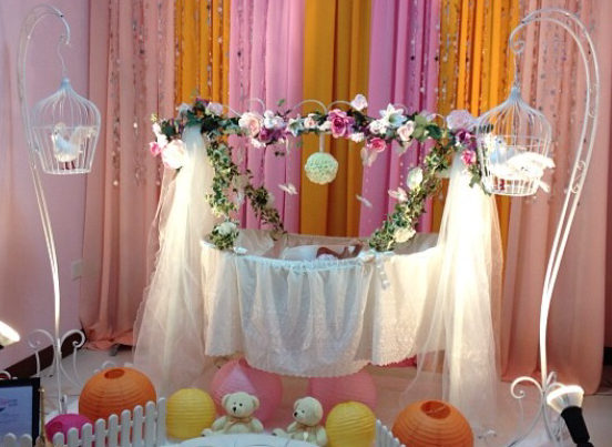 Naming ceremony decorations bangalore for Baby name ceremony decoration ideas