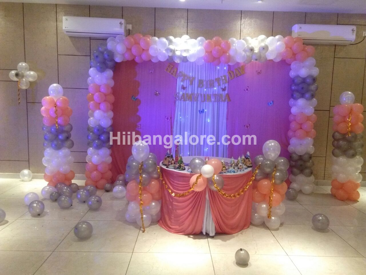 baby girl balloon decoration bangalore