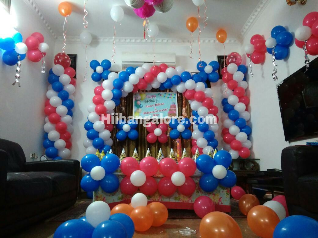 Birthday party balloon decoration bangalre
