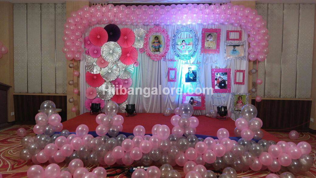 girl baby birthday decoration