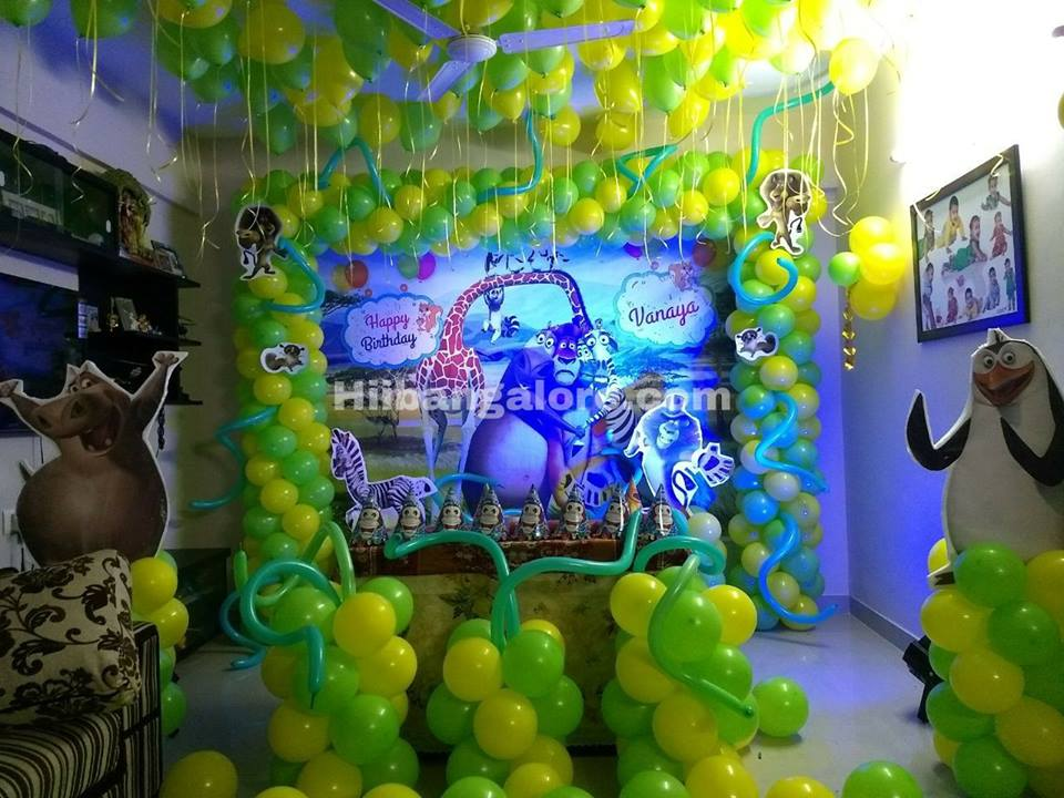 Madagaskar theme party bangalore