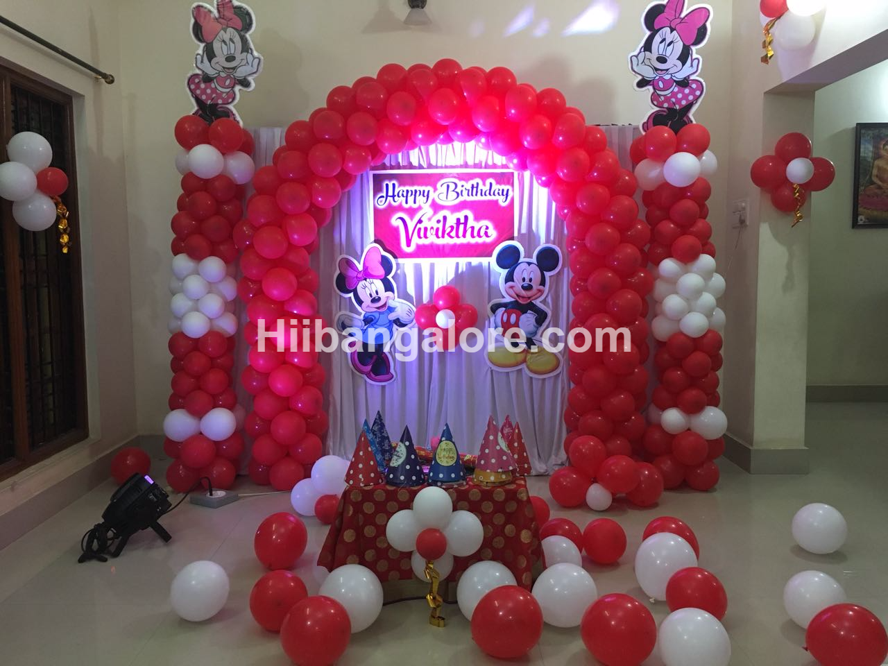 mickey mouse theme decoration bangalore