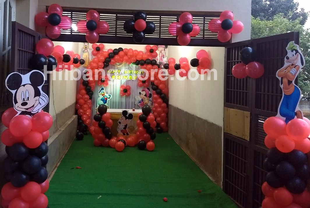 Mickey mouse theme birthday party Bangalore