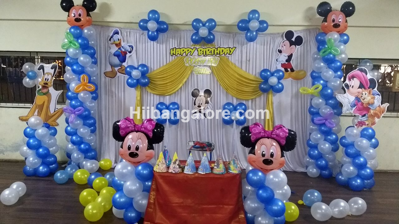Mickey mouse theme birthday decoration