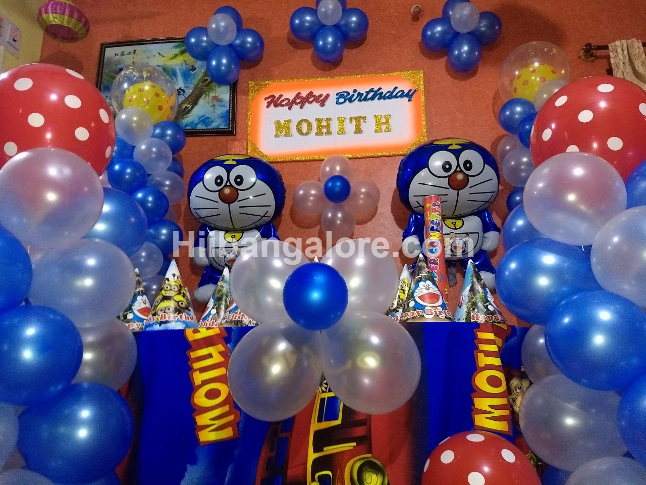 simple doraman theme decoration bangalore