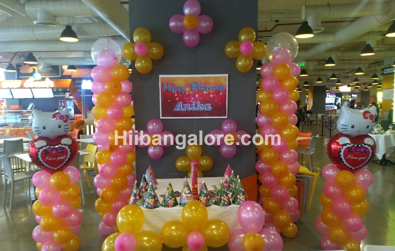 Helloo kitty birthday decoration Bangalore