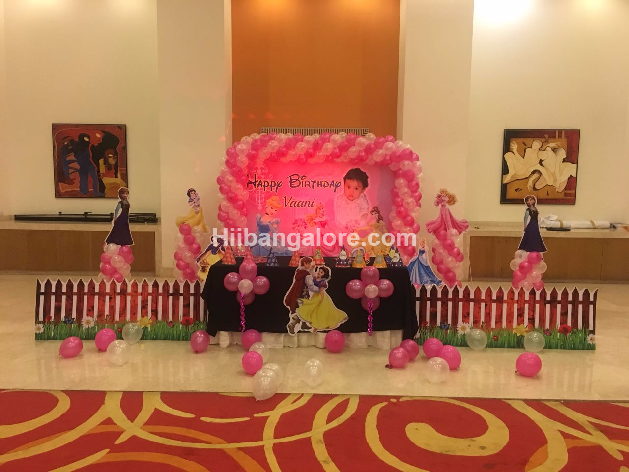 Princess theme Birthday decoration Bangalore
