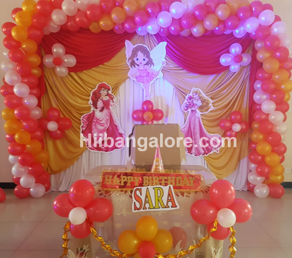 Birthday party princess decoration